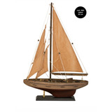 Velero Decorativo Madera Miniatura Barco Escala 30 Cm