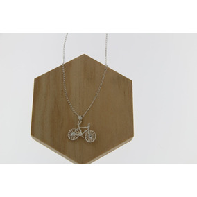 Cadena Con Dije Bicicleta Plata .925