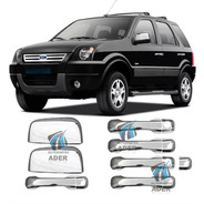 Kit Apliques Cromados Manijas + Espejos  Ford Ecosport 2003 A 2012