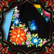 Blusa P Bordado A Mão 40-42 Floral Bordada