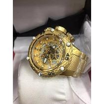 Relógio R201593 Invicta Noma 6 Novo Grande Dourado Cobra