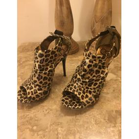Zapatos Promise De Tacón Alto Leopardo 35 Y Medio