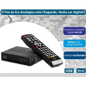 Conversor Tv Digital Hdtv Função Gravador + Cabo Hdmi