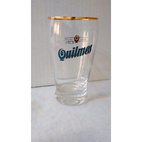 6 Vaso Quilmes De 250ml Con Borde Dorado Originales Nuevos