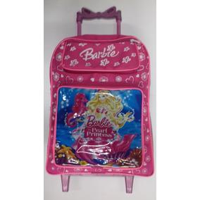 Mochila Da Barbie Infantil Pequena C/ Rodinhas Linda Barata