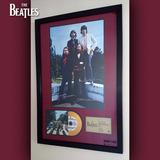 Cuadro The Beatles Abbey Road Cd Estilo Oro