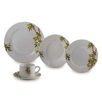 Aparelho De Jantar De Porcelana Tropicalis 20 Peças - Lyor