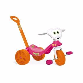Triciclo Zootico Rosa Motoquinha Passeio Infantil Bandeirant