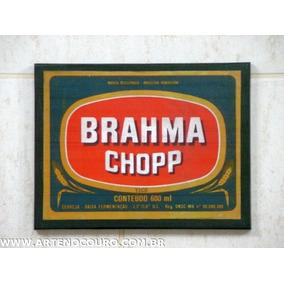 Rótulo Cerveja Brahma Novo (nunca Recebeu Adesivo) Década 70