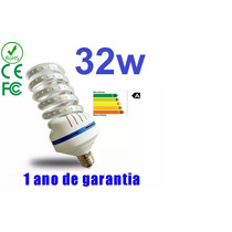 Lampada Led Milho Espiral Soquete E27 Bivolt 32w Branco Frio