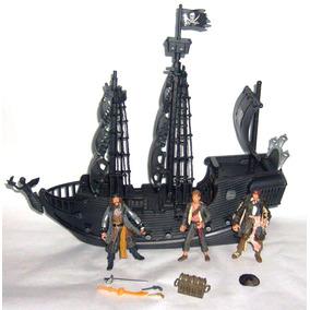 Barco Pirata El Perla Negra 36cm Luz Led Con Jack Sparrow ..