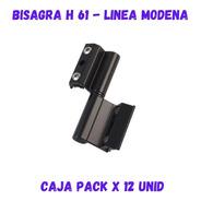 Bisagra H61 Para Ventana De Aluminio Módena Negra X 12 Unid