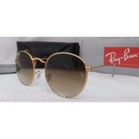 Óculos Round Rb3447 Marrom Degradê Redondo Retro. R  120 e6300e3baf