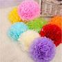 10 Balão Pompom Leque De Papel Seda Festa Decoração Festas