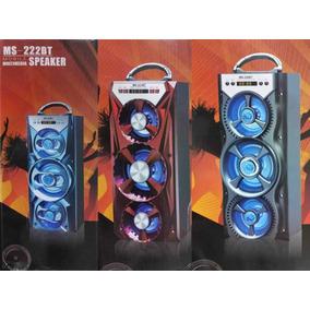 Caixa Som Bluetooth Pen Drive Cartão De Memoria Ms-222bt