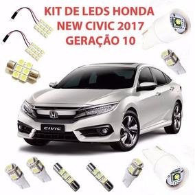 Acessório Kit Lâmpada Led Honda New Civic 2017 Geração 10