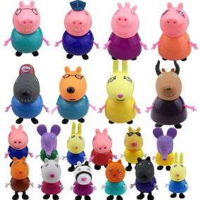 Peppa Pig Família + Amigos Coleção 20 Bonecos Pronta Entrega