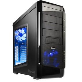 Gabinete Gamer Pc Zalman Z12 Plus Fan Led Blue Usb 3.0