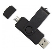 Pendrive Otg 16gb Usb 3.0 Giratorio Negro Ideal Publicidad!