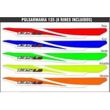 Calcomanias Pulsar 135 - Pulsarmania