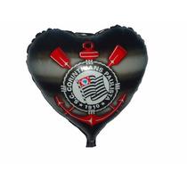 Balão Metalizado Corinthians Kit/12 Unidades Pronta Entrega