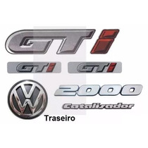 Kit Emblemas Gol Quadrado Gti - Até 1994 - Modelo Original .