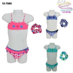 Bikini Con Colita De Pelo 1 A 4 Años Para Nenas Y Bebas