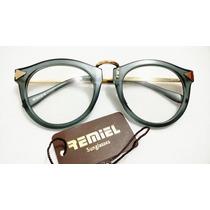 Armacao Oculos Lentes Sem Grau Feminino Haste Dourada Oferta