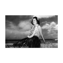 Hawaii, Hawaiian Hula Girl Smiling Photograph Print, 24 X3