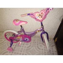 Bicicleta Infantil Para Niña Rodada 16 Disney Princesas