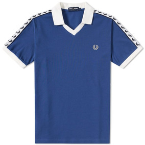 Fred Perry Taped Piqué Polo (pacific Blue)