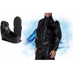 Capa Chuva Motoqueiro + Polaina, Masculino, Preto,tamanho G
