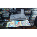 Playstation 1 Play Station Fat Ps1 1mando, 3 Juegos, Memory