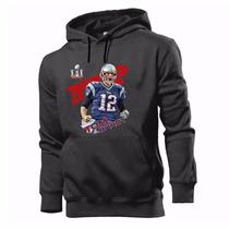 Moletom Canguru Casaco Blusa New England Patriots Brady Mvp