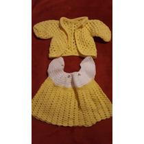 Traje De Bebe Tejido A Crochet Nuevo