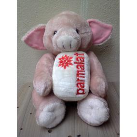 Pelúcia Porco Rosa - Coleção Parmalat - 26 Cm