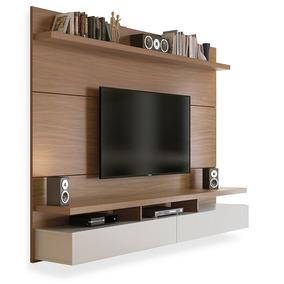 Painel Para Tv Até 60 Polegadas, Natural Com Off White 2,20m