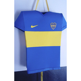 Piñata Camiseta Boca + 3 Servilleteros + Cartel Feliz Cumple
