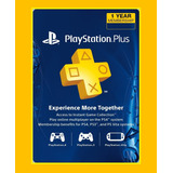 Psn Plus Card 12 Meses 1 Año Membresia Ps4 3 Argentina Usa