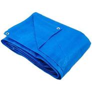 Lona Plástica Impermeável 7,5x6 Metros Azul Com Ilhós