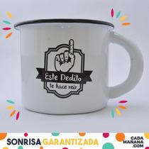 Este Dedito Te Hace Reir - Taza De Peltre Para Café