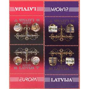 Letônia - Europa - 1994 - S/completa - 2 Pares Tete-beche