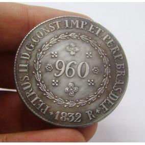 D40 - Réplica- Patacão 960 Réis 1832-r Banho Prata