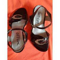 Sandalias De Vestir Para Niña, Color Negro