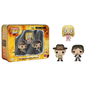 Funko The Walkin Dead Latinha De Metal Com 3 Personagens