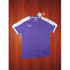 Camiseta Entrenamiento Puma Violeta Con Blanco Talle S