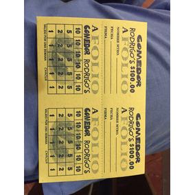 8000 Cupones 1/8 Impresos A 1 Tinta Sobre Cartulina Con Foli