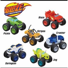 Kit 6 Carrinhos Blaze Monster Machine Brinquedos Criança