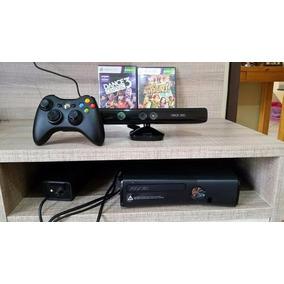Console Xbox 360 Com 250gb, Sensor Knect E Dois Jogos.