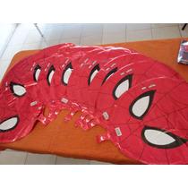 Globo En Forma De Cabeza Spiderman. Paquete De 10 Piezas 18